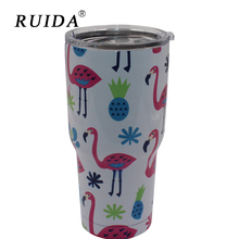RUIDA  Cartoon Mug Thermos Bottle 30oz Stainless Steel Vacuum Flask Travel Coffee Cup for Car Insulated Tumbler Water ST012