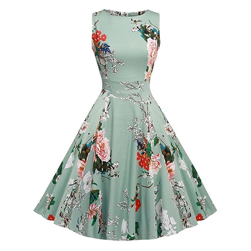 Summer fashion dress party mujeres dress algodón imprimir beach vestidos de cuel
