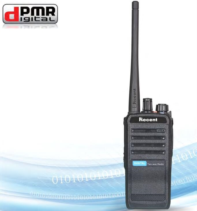 New Digital encryption walkie-talkie two-way radio transceiver transmitter dPMR phone UHF 16CH w/ <font><b>antenna</b></font> AC adapter earpiece image