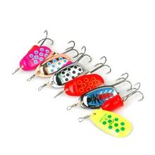 6pcs/lot spinner Size 2-5# Spinner Bait Fishing Bait Bass Baits Fishing Lures Fishing Hooks Spinner Blades