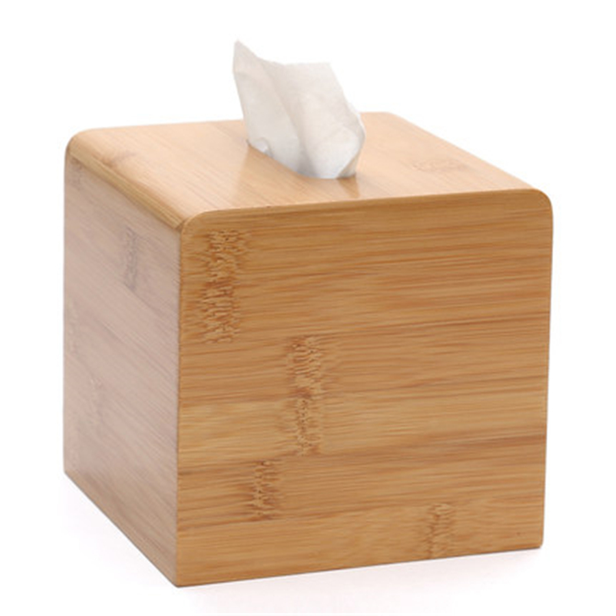 Creative Bamboo Tissue Box Holder Cover Toilet Paper Home Kitchen Towel Rack  Creative Bamboo Tissue Box