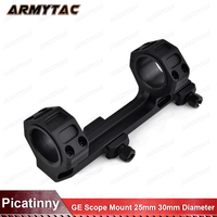 GE Hunting Rifle Scope Mount 25mm 30mm Diameter Rings with Integrated Bubble Level Fit Weaver Picatinny Rail Short Version