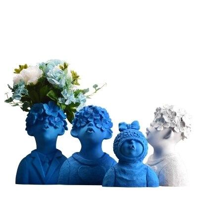 Garçon figurine ornements moderne minimaliste créatif décorations pour la maison artisanat nordique mobilier