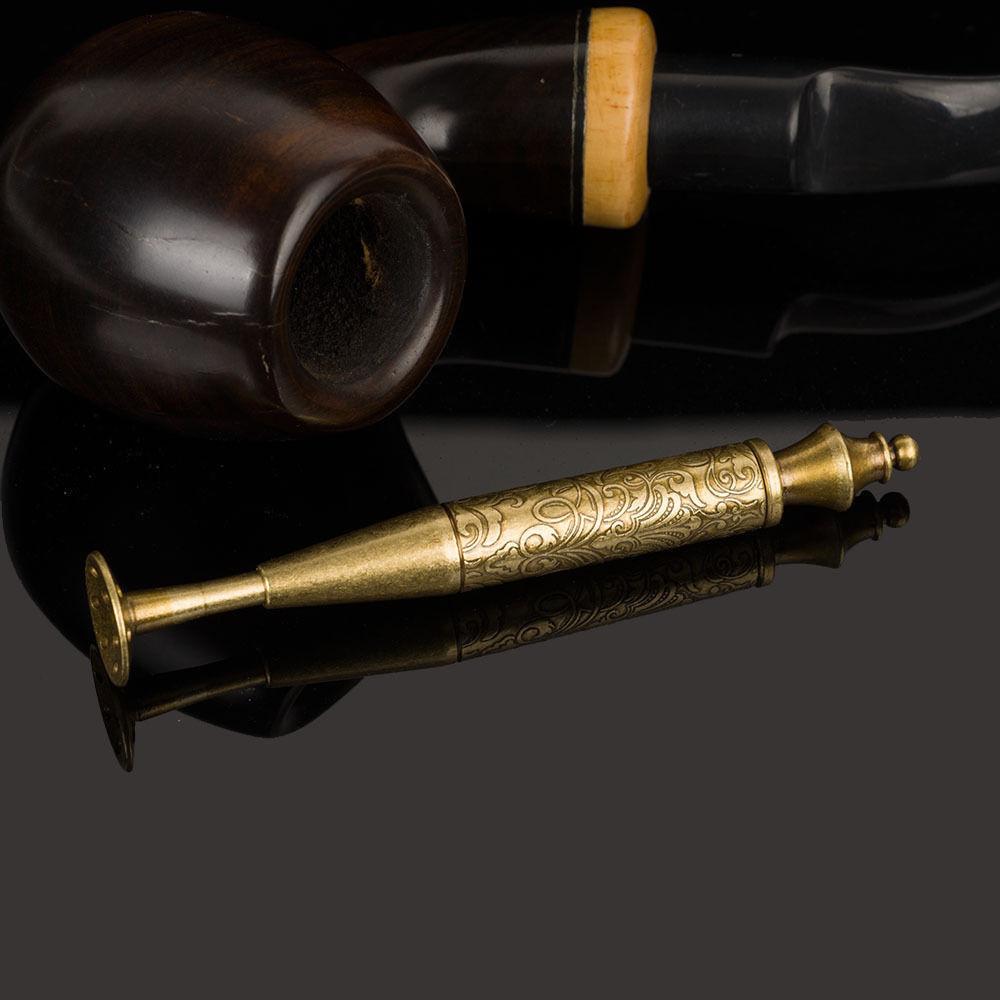 2 In 1 Jifeng Klassische Silber Und Gold Blume Geschnitzte Arabesque Tabak Tamper Rohr Reinigung Zubehör Kann Wiederholt Umgeformt Werden.