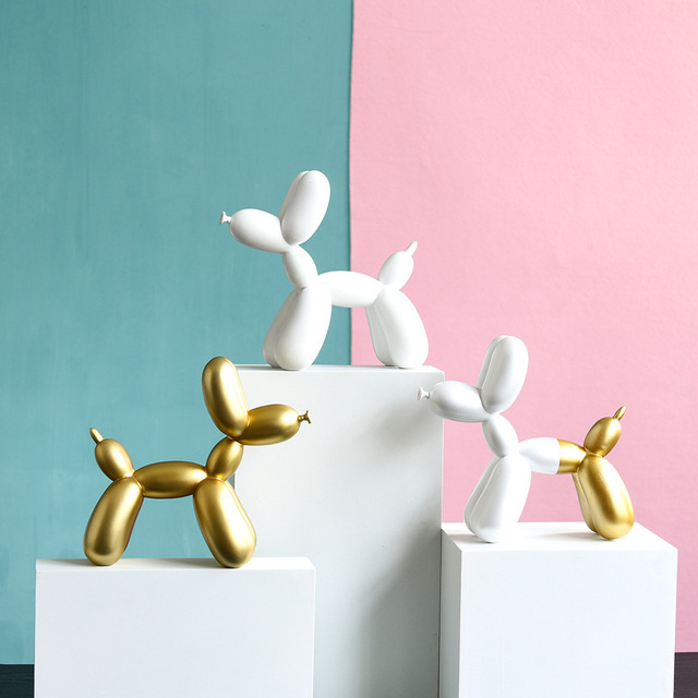 Modern Jeff Koon Balloon Dog Statue Abstract Sculpture Fashion Balloon Dog Resin Craft Sculpture Art Statue Home Decoration Gift