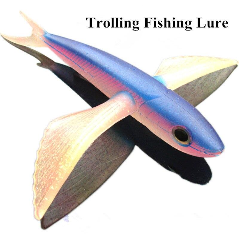 Rybářská návnada s mořskou vodou Létající rybí návnada 65g / 120g Loď Trolling Tuna Mackerel Thazard 17cm / 22cm