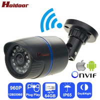 Holdoor Security IPC Wi Fi Camera Camcorder HD 960P Network IP Video Surveillance Night Vision IP65