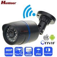 Holdoor Security IPC Wi Fi Camera Camcorder HD 960P Network IP Video Surveillance Night Vision IP65