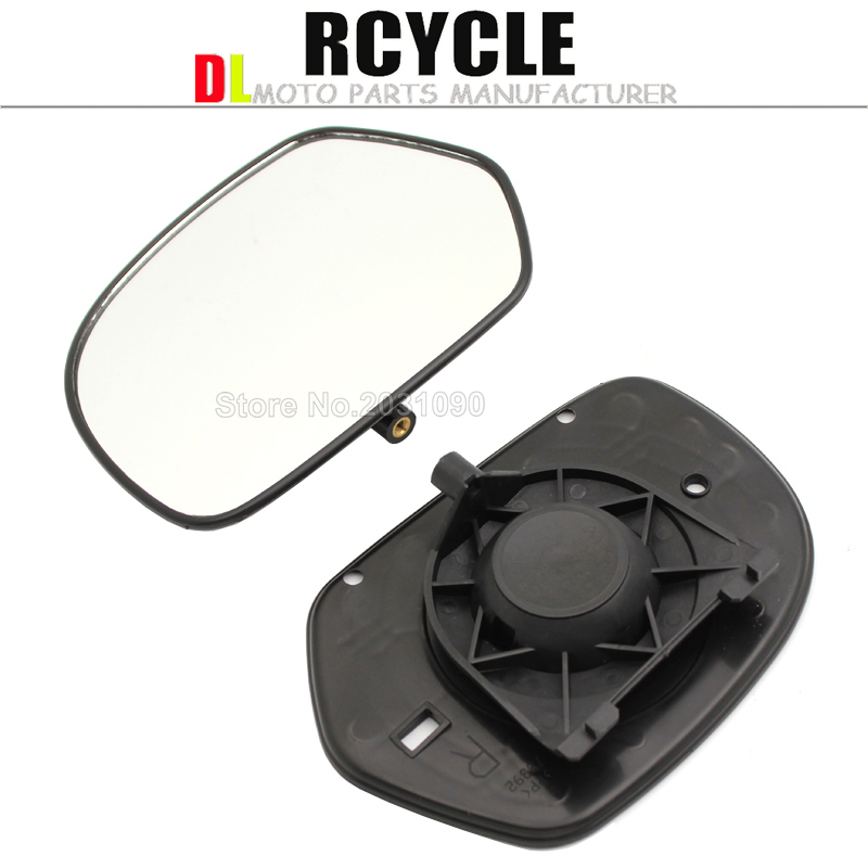 1Pair Motorbike Clear Rear View Mirrors Glass For Honda GOLDWING GL1800 2001 2011