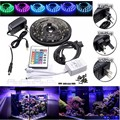 4PCS 50cm 5050 RGB LED Strip Light Waterproof Changing Mood Lighting TV Background Fish Tank Decor With 24 Keys Romote Control