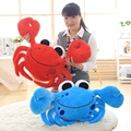 1pc 55cm Staffed Cute Crab Plush Pillows Creative Birthday Gift Cartoon Steamed Crab Plush Toys Kids Doll Sofa Cushion