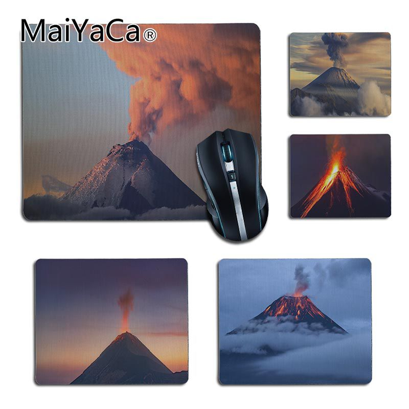 MaiYaCa rubber Black volcanos small Gaming MousePads for Game Playing Lover custom mouse pad Gift for Boy friends and Lover
