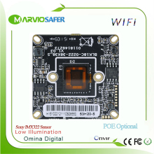 1080P Full HD 2MP Sony IMX322 Low Illumination wifi Wi-Fi CCTV Network IP Camera Board Module with Audio interface, Onvif
