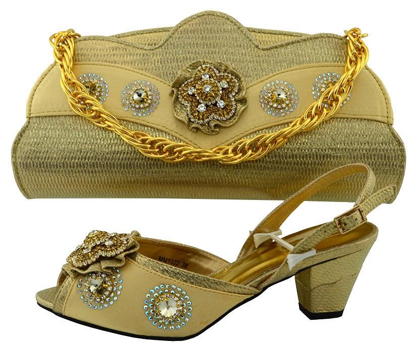 ФОТО African Shoe and Bag Set Italian Matching Shoe and Bag Sets African Wedding Shoe and Bag Set PUW1-32