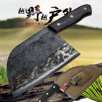 KKWOLF butcher forged cleaver knife chefs knife profesional sashimi santoku japanese chef knife har case sunnecko kitchen steel