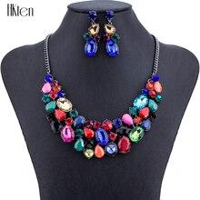 MS1504308 Мода Ювелирные Наборы Высокое Качество Наборы Ожерелье Для Женщин Ювелирные Изделия Многоцветный Кристалл Уникальный Дизайн Подарки