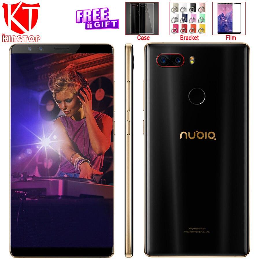 Nubia ZTE originais Z17S Tela Cheia Do Telefone Móvel Snapdragon 835 6 GB RAM 64 GB ROM 5.73 polegada Android 7.1 Dual Câmeras Frontal Traseira