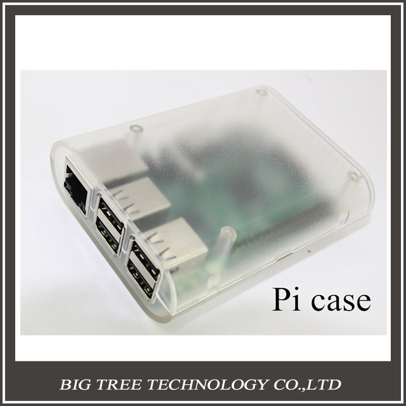 NEW! Raspberry pi b plus or Raspberry pi 2 Case Transparent Cover Shell Enclosure Box ABS Box with 3pcs Heat Sinks free shipping