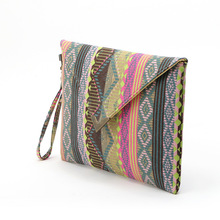 2017 vintage evenlope clutch bag Bolsa Feminina new handbag canvas day clutches fashion women messenger bags striped handbags