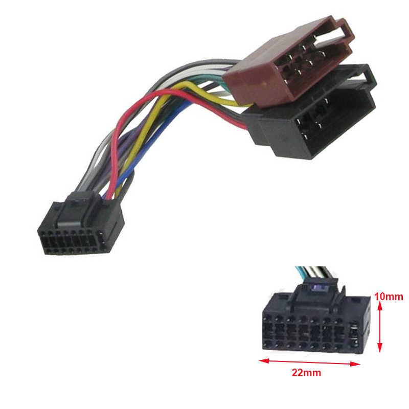 ISO Wiring Harness Adaptor 16 Pin for KDC X400 KMM U51BT ... on