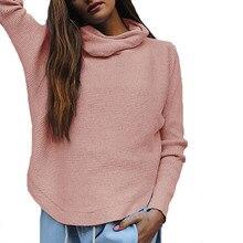 2017 Turtleneck Sweater Women Pink Autumn Winter Sweater Female Basic Runway Knitted Sweater Pullovers Jumper Full Femme