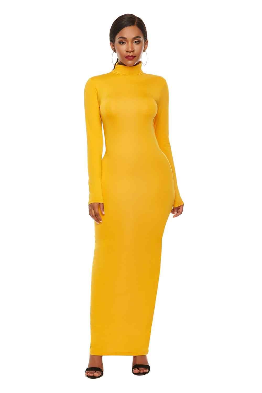 Элегантный тонкий негабаритный женское длинное платье с длинным рукавом халат эластичный Femme Vestidos женский пуловер пакет бедра макси платья 3XL 4XL 5XL