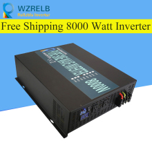 Peak Full Power 8000W Solar Inverter Pure Sine Wave Inverter Car Power Inverter 12V/24V to 120V/220V DC to AC Voltage Converter