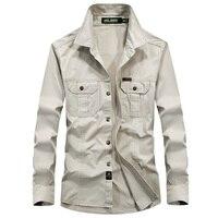 Men S Tactical Combat Shirt U S Military Shirt AFS JEEP Breathable Brand Long Sleeve Shirt