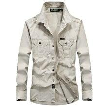 Мужская рубашка американские военные рубашка AFS джип дышащая брендовая рубашка с длинными рукавами Осень случайные Army платье рубашка Camisas ...(China (Mainland))