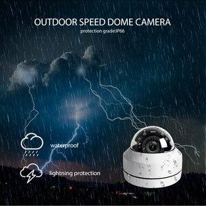 Image 4 - 2MP 5MP Full HD PTZ IP Camera Outdoor Mini Speed Dome Cam IP Onvif 4X Zoom P2P 40m IR Night Vision ip66 Waterproof POE Optional