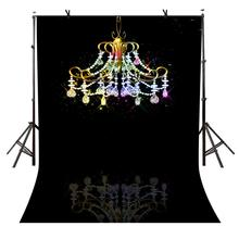 150x220cm Colorful Chandelier Background Dark Theme Party Photography and Studio Backdrop Props
