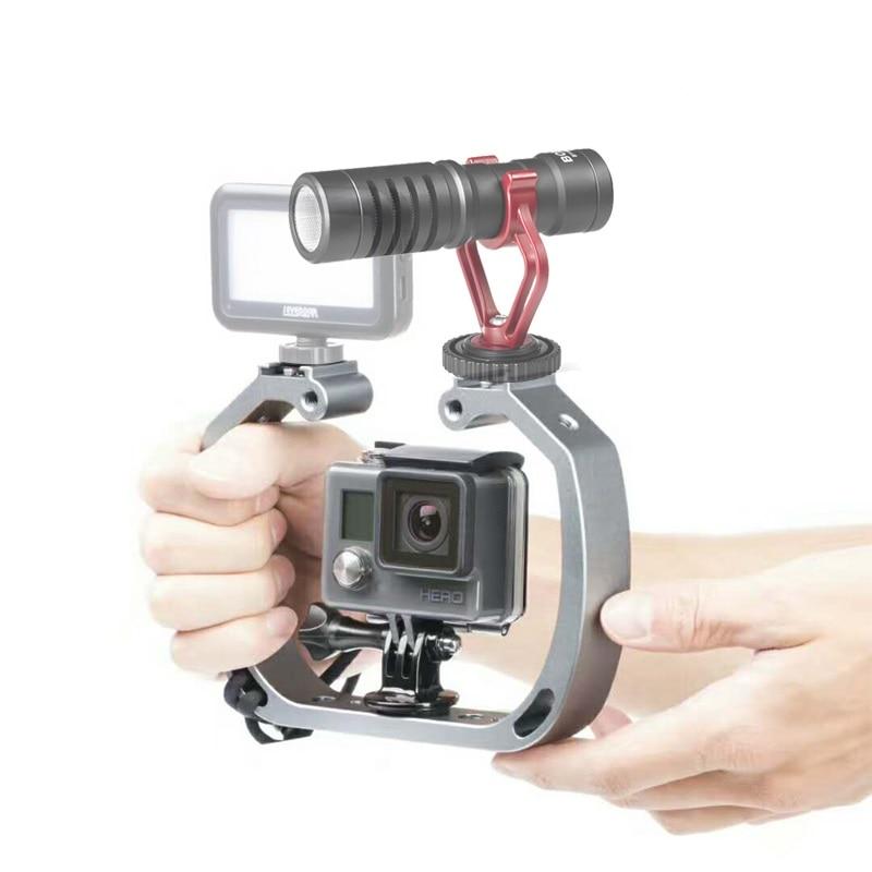 Sport Action Camera Handheld Video Stabilizer Rig Cage Frame Bracket for GoPro 5 4+ 4 3+ 3 2 Sjcam Sj5000 Sj4000 Xiaoyi Camerera bz bz66 motorcycle frame bracket holder for gopro sj4000 black