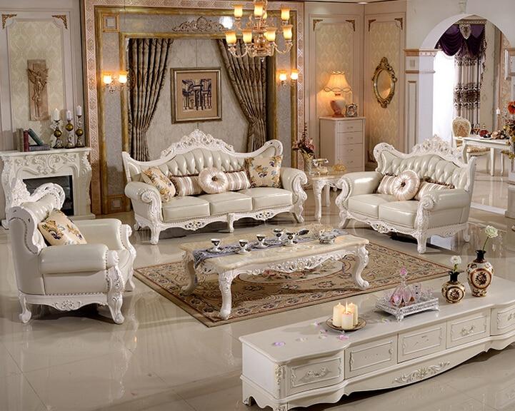 Antique classic wood funiture living room sofa set modern for 7 seater living room set