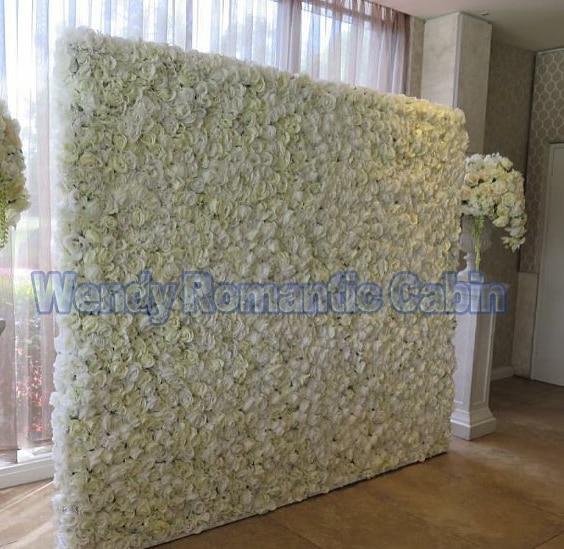 2017 nouveauté blanc mariage fleur mur fleur toile de fond décoration de mariage