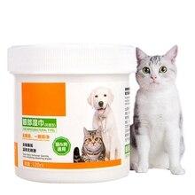 Pet EAloe экстракт глаз слеза влажные салфетки для собак кошек безопасно очищает пятна от слез полотенца для домашних собак втулки 120 шт