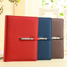Wholesale Novelty Gift Fashion Style  Diary Leather Notebook office supplies stationery book A5 High quality Business Note Book