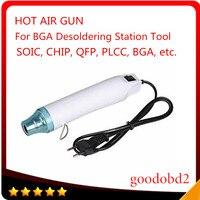 white ac Hot Air Heat Gun BGA Desoldering Station Tool Electric Power Tool White AC 220V 300W for SOIC CHIP QFP BGA Seat Shrink (1)