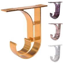 Drapery-Bracket Curtain Poles Aluminum 2pcs for Rod Fit