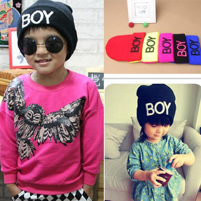 45d95802284 Toddler Baby Girl Boy Winter BOY Skull Hat Warm Beanie Caps Woolen Hats