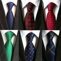 Caliente 100% de seda a cuadros lazos regalos para hombres camiseta boda camiseta cravate pour homme tejido jacquard corbata parte gravata Formal corbata