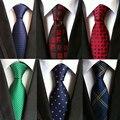 hot 100% silk plaid ties gifts for men shirt wedding cravate pour homme jacquard woven necktie Party gravata Business Formal tie