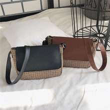 b475288eb Mujeres Retro lana hombro Simple de la bolsa de mensajero bolsas bolsa  femenina bolso mujer sac