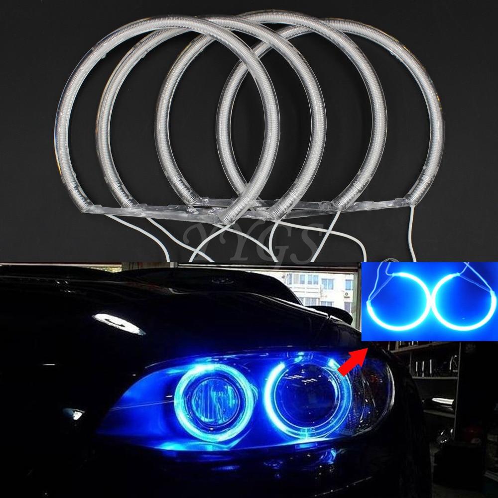 New Arrive 4pcs Xenon Led CCFL Angel Eyes Halo Rings light For BMW E46 E39 E38 E36 3 5 7 Series Free Shipping car styling 131mm 4 led cob angel eyes halo rings kit for bmw e46 e39 e38 e36 3 5 7 series daytime runing lights drl retrofit
