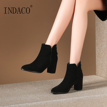 Ankle Boots for Women 2019 New Leather Zipper 7cm