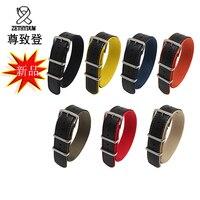 Qualité nylon et PU leatehr bracelet 18mm 20mm 22mm 24mm remplacement sangle en nylon