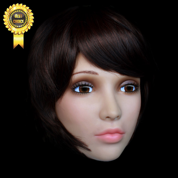 Sh 20 Human Mask Crossdress Silicone Female Mask Sissy Boy Whloesaler Silicone Female Mask Cd Free Shipping With Wig
