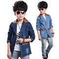 2015 Children Fashion Outerwear Spring & Autumn New baby Boys Cowboy Suits Coat Jacket Children Clothing Top Suit