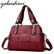 Bolsa de couro feminina bolsas de luxo bolsas femininas designer tote senhoras sacos de ombro marca mensageiro saco sac principal femme