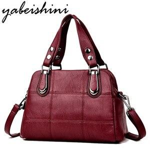 Image 1 - Bolsa de couro feminina bolsas de luxo bolsas femininas designer tote senhoras sacos de ombro marca mensageiro saco sac principal femme