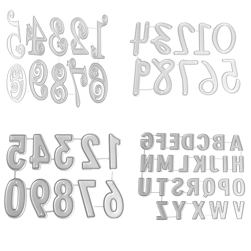 Various Styles Letters Number Metal Cutting Dies Stencil